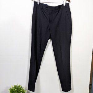 3/15 Savile Row Brixton Black Flat Dress Pants